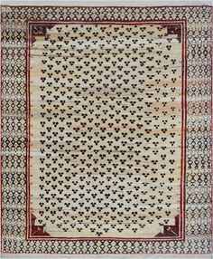 Vintage Turkish Rug  MidCentury Modern, Wool, Antique  Vintage by Mansour