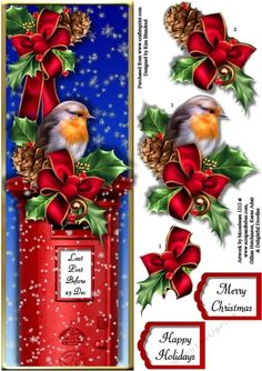 Wait a Minute Mr Postman - Christmas Robin - Large DL - CUP724709_1072 | Craftsuprint
