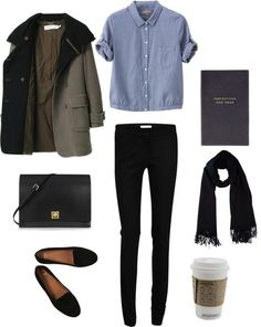 oversized, rolled sleeves with skinny pants and loafers... this is basically what I wear every day anyway <3