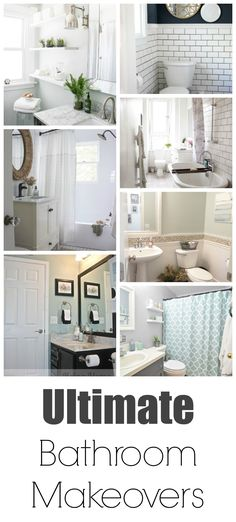 The BEST bathroom Makeovers on pinterest!  I LOVE them- Repinning for future use.  CLICK now if you are ready for hundreds of amazing ideas and tutorials on...