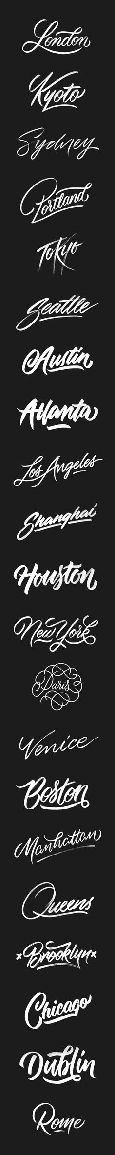 Cities   A Brush-Type Lettering Series By artist @ginozko #typography #…