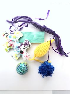 A personal favorite from my Etsy shop https://www.etsy.com/listing/537041115/fun-cat-toys-summer-waves-package-mice