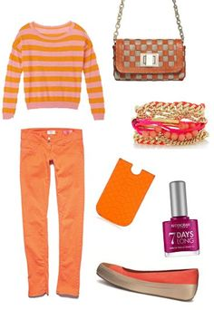 spring fashion.. Id rahter have a foot amputated than wer those shoes or any that look like that, but I'd rock this with platform sandals or Converse all stars