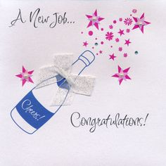 Congratulations New Job New Job Party, Leaving Cards, Good Luck Cards, Congratulations Card, Invitations, Invitation Ideas, Christmas Wishes, St Patricks Day, Fathers Day