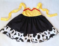 JESSIE inspired dress from Toy Story Princess Party  Cowgirl Dress Up --  girls toddler costume children clothing. $38.50, via Etsy.
