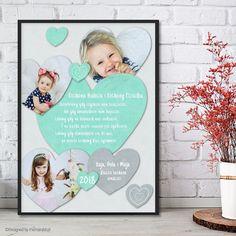 Serce miętowe + 3 zdjęcia - Plakat dla babci i dziadka    #dzieńbabci #dzieńdziadka #dzienbabci #dziendziadka #dziadkowie #babcia #dziadek #prezent #święto #plakat #poster #nasciane #grandpa #grandma Diy Food, Most Beautiful Pictures, Diy Gifts, Told You So, Presents, Scrapbook, Day, Frame, Handmade
