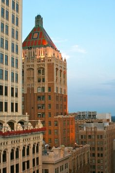 The Philtower Building in downtown Tulsa.  This is a stunning example of neo-gothic and art deco architecture, designed by Edward Delk and financed by Waite Phillips.  It is listed on the national register of historic places.