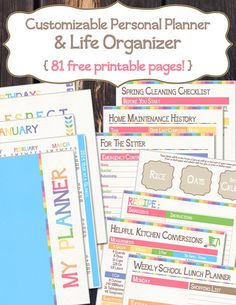 81 pages of printable organized goodness!