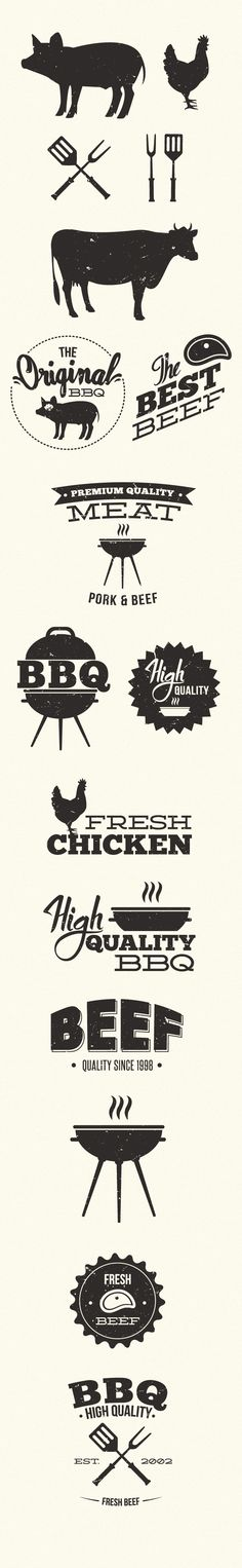 designtnt vector bbq large BBQ Grill Vector Elements