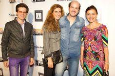 C Artist roster -- Grammy-winning producer Brent Fischer, Tamara and multi-Grammy winning Mixer/Producer Rafa Sardina with Claris Sayadian-Dodge at NRG Recording reception during AES 2014