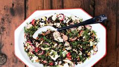 Herby Black Rice Salad with Radishes and Ricotta Salata Recipe | Bon Appetit