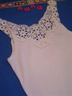 Pala em crochê   mudando o visual de uma camiseta bca básica…   Flickr
