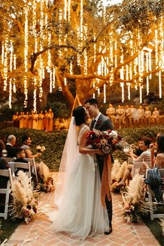 Fairy Lights Wedding, Tree Wedding, Wedding Ceremony, Our Wedding, Wedding Venues, Wedding String Lights, Fairy Lights In Trees, Forest Wedding Venue, Light Wedding