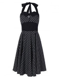 GET $50 NOW | Join RoseGal: Get YOUR $50 NOW!http://www.rosegal.com/vintage-dresses/halter-polka-dot-a-line-910056.html?seid=6906459rg910056