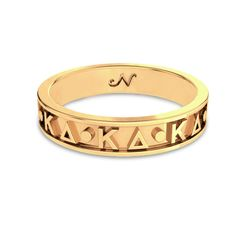 Kappa Delta Yellow Gold Original Signature Letter Ring #14k-yellow-gold-plate #kappa-delta #rings