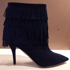 Sasha bootie by @aquazzura #Aquazzura #Sasha #SashaBootie #bootie #fringe #FolliFollie #FW14collection