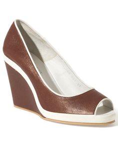 Fratelli Rossetti leather wedge... #DesignerShoes... #LadiesStylish