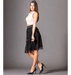 Φούστα με Τούλι και Δαντέλα - Μαύρο Ballet Skirt, Fashion Outfits, Skirts, Skirt, Skirt Outfits, Ballet Tutu, Dressy Outfits, Dresses
