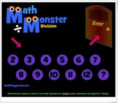 Math Monster Subtraction supports Common Core Math Standards for Grade 2 under Operations and Algebraic Thinking. Subtraction Games, Multiplication Games, Multiplication And Division, Addition And Subtraction, Math Sites, Division Games, Teaching Math, Teaching Ideas, Common Core Math Standards