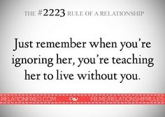 The #2223 Rule of a Relationship