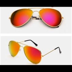 Red Golden New Fashion Sunglasses Super trendy sunglasses. Brand new. High Quality. Accessories Sunglasses
