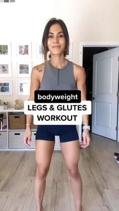 Legs and Glutes workout at home