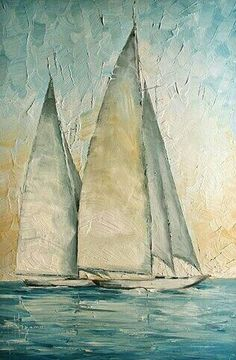 Sailboat Art, Sailboat Painting, Sailboats, Oil Painting Abstract, Painting & Drawing, Watercolor Art, Urbane Kunst, Oil Painting Techniques, Ocean Art