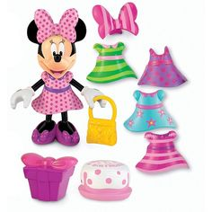 """Toys """"R"""" Us - Fisher Price - Minnie Mouse - Birthday Bow-tique (varios modelos)"""