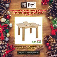 Porque en Navidad y más que nunca donde comen 2 comen 3...o 4 #rusticoslara #mueblesrusticoslara #Navidad #mesasparanavidad #mesasextensiblesmadera #mueblesencrudo #mueblesdecalidad #mueblesonline #mueblessinmontaje #mueblespinturaalatiza Raw Furniture, Furniture Making, Natural Wood, Christmas Wreaths, Holiday Decor, Nature, Ideas, Home Decor, Kitchen