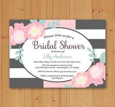 Floral Bridal Shower Bridal Shower Invitation by JMCustomInvites
