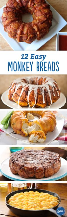 We don't mess around when it comes to monkey bread! Sweet, savory, or both, we're giving you 12 of our easiest recipes made with only six ingredients (or less). You have serve them as an appetizer or breakfast depending on how you make them.