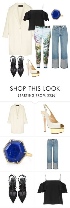 """""""Untitled #815"""" by hyewon-park1020 ❤ liked on Polyvore featuring Donna Karan, Charlotte Olympia, Anne Sisteron, rag & bone, Valentino, Fendi and Zara"""