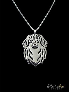 Tibetan Spaniel jewelry Sterling silver by SiberianArtJewelry