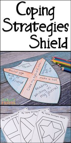 Teach kids that coping strategies are their shield from stress and tough emotions! Kids will create their own coping strategies shield, add strategies, and color it in! Perfect for a superhero theme or just to make these social emotional skills fun! Coping Skills Activities, Counseling Activities, Art Therapy Activities, School Counseling, Social Activities, Play Therapy, Kids Coping Skills, Therapy Ideas, Speech Therapy
