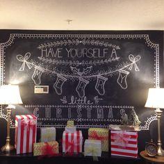 Christmas chalkboard More