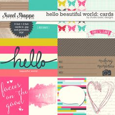 Hello Beautiful World: Cards by Studio Basic