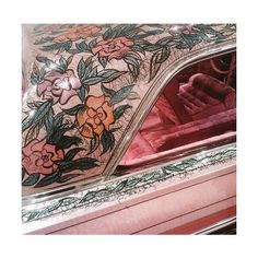 """Close-up of the late Walt Prey's handy work on the Valadez Impala, """"Gypsy Rose"""". Hopeless Fountain Kingdom, The Get Down, Revolutionary Girl Utena, Saints Row, Romeo And Juliet, Pink Lips, Pink Aesthetic, Witch Aesthetic, Bunt"""