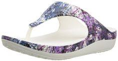 crocs Women's Sloane Soft Floral Flip Flop -- Tried it! Love it! Click the image. - Flip flops