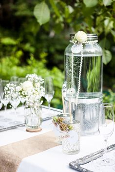 Glass Vase, Table Decorations, Home Decor, Style, Paper Mill, Deko, Newlyweds, Homemade Home Decor, Decoration Home