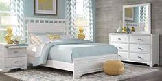 Queen Bedroom Sets - Rooms To Go - Belcourt White 7 Pc Queen Lattice Bedroom - King Size Bedroom Furniture, Discount Bedroom Furniture, Home Furniture, Furniture Stores, Bedroom Dressers, Furniture Chairs, Cheap Furniture, Kitchen Furniture, Modern Furniture