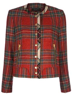 Rag & Bone Tartan Short Jacket in Red