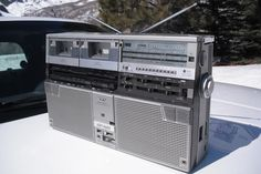 The first Boombox we had, Sharp GF 666 (pictured are the GF 555) lasted through the mid 90's and died