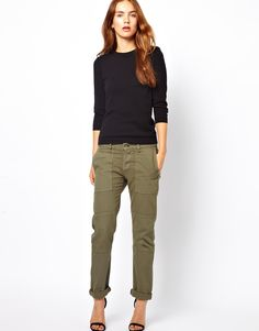 The perfect cargo pants. replace the heels with doc martens and it's perfect.