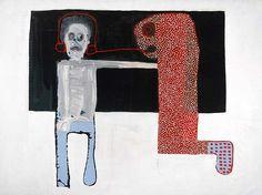 Amadou Sanogo   Ses derniers travaux expriment la quête de l'identité de l'individu au sein de la société africaine.