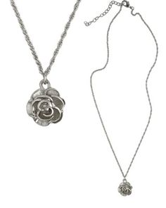 Nicki Rose Pendant in Rhodium