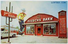 boesch-barn.jpg (500×326). 700 block of N. Timberland Dr. next door to Sharkey's Market #1. 1960s