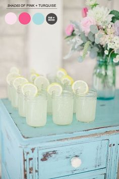 Turquoise Pink Wedding Colors | http://www.fabmood.com/turquoise-pink-wedding-colors/
