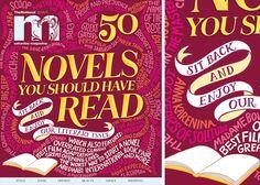 50 Novels | Calligraphy by Kate Forrester