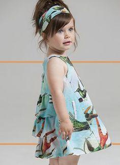 Vestidos primavera verano 2018 para niñas. Moda primavera verano 2018.