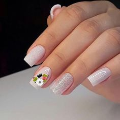 Beautiful Nail Trends and Designs to Try Beautiful Nail Trends and Designs to Try - beautiful acrylic short square nails design for french manicure nails 2 ~ Modern House Design Interesting Nail Arts for the Week Creative Nail Designs, Beautiful Nail Designs, Creative Nails, Nail Art Designs, Cute Nails, Pretty Nails, My Nails, Nail Deco, Nail Designer
